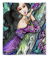 Sapphire Forest Fleece Blanket