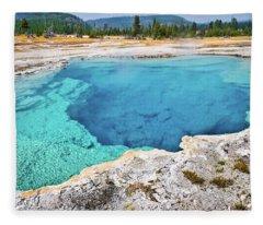 Sapphire Pool, Biscuit Basin Fleece Blanket