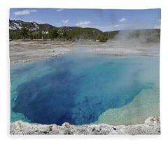 Sapphire Spring, Biscuit Basin 3 Fleece Blanket