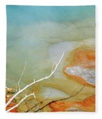 Sapphire Spring, Biscuit Basin 7 Fleece Blanket