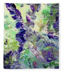 Sapphire Violet Fleece Blanket