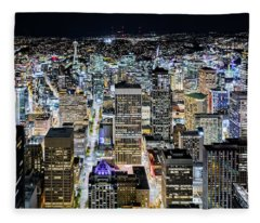 Seattle Lights Fleece Blanket