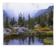 Saturated Forest Fleece Blanket