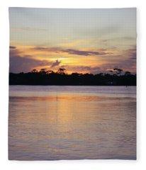 Saturday At Sundown Fleece Blanket