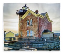 Saugerties Lighthouse Fleece Blanket