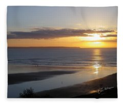 Saunton Sands Sunset Fleece Blanket
