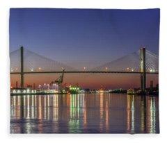 Savannah's Talmadge Memorial Bridge Fleece Blanket