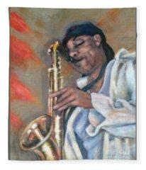 Sax And Linen Fleece Blanket