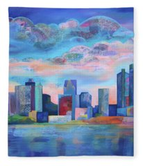 Say Nice Things About Detroit Fleece Blanket