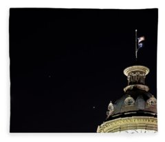 Sc State House Dome And Conjunction Fleece Blanket