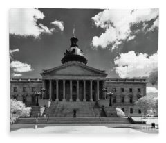 Sc State House - Ir Fleece Blanket