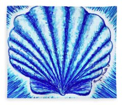 Scallop Fleece Blanket