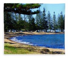 Scarborough Beach Fleece Blanket