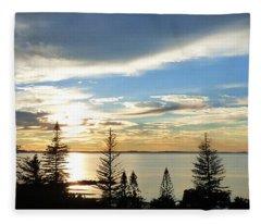 Scarborough Panorama. Fleece Blanket