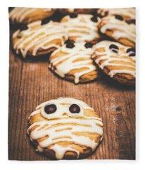 Scared Baking Mummy Biscuit Fleece Blanket