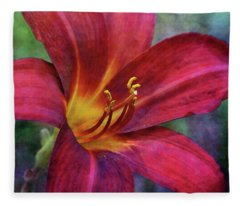 Scarlet And Gold Dust 3716 Idp_2 Fleece Blanket