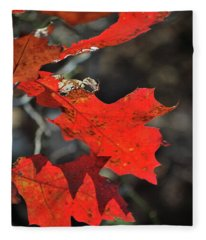Scarlet Autumn Fleece Blanket