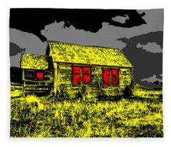 Scary Farmhouse Fleece Blanket