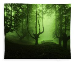 The Funeral Of Trees Fleece Blanket