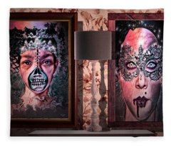 Scary Museum Wallart Fleece Blanket