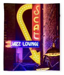 Scat Jazz Neon V3 Fleece Blanket