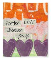 Scatter Love Fleece Blanket