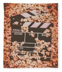 Scene From A Film Production Fleece Blanket
