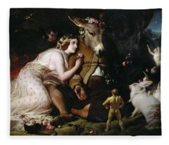 Scene From A Midsummer Night's Dream Fleece Blanket