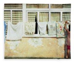 Scene Of Daily Life Fleece Blanket