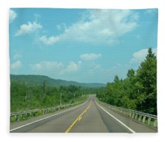 Scenic Route Minnesota Route 63 Fleece Blanket