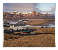 Fleece Blanket featuring the photograph Scenic View Of Iceland by Pradeep Raja PRINTS