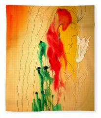 Scent Of An Orchid Fleece Blanket