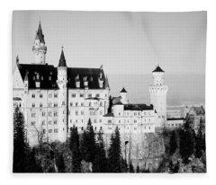 Schloss Neuschwanstein  Fleece Blanket