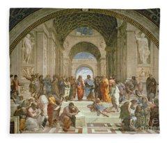 School Of Athens From The Stanza Della Segnatura Fleece Blanket