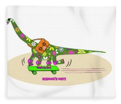 Schools Out For Dinosaurs Fleece Blanket