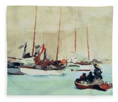Schooners At Anchor In Key West Fleece Blanket
