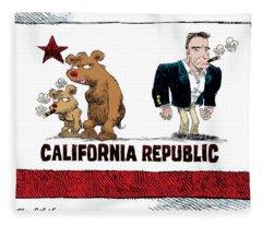 Schwarzenegger Love Child Flag Fleece Blanket