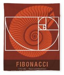 Science Posters - Fibonacci - Mathematician Fleece Blanket