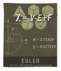 Science Posters - Leonhard Euler - Mathematician, Physicist, Engineer Fleece Blanket
