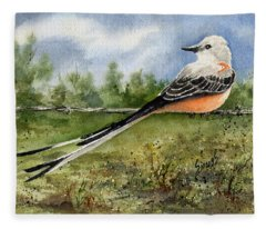 Scissor-tail Flycatcher Fleece Blanket