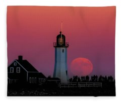 Scituate Supermoon Fleece Blanket