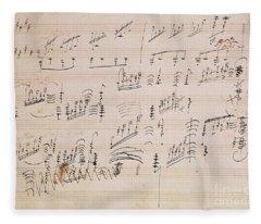 Score Sheet Of Moonlight Sonata Fleece Blanket