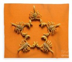 Scorpio Star Sign Fleece Blanket