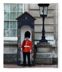 Scots Guard Buckingham Palace Fleece Blanket