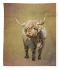 Scottish Highlander Fleece Blanket