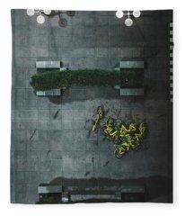 Scrap Metal Fleece Blanket