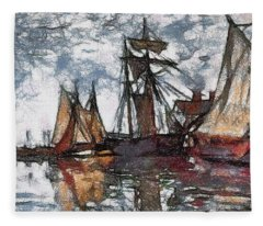 Scratch Board Monet Fleece Blanket