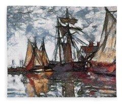 Scratch Board Monet Fleece Blanket