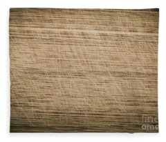 Scratched Old Bamboo Cutting Board Fleece Blanket