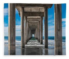 Scripps Pier La Jolla California Fleece Blanket